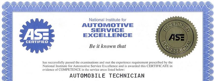 ASE Certified Mechanics St Charles IL