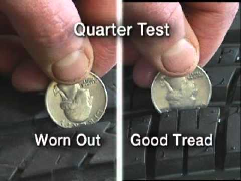 The quarter test to tire in St Charles IL.